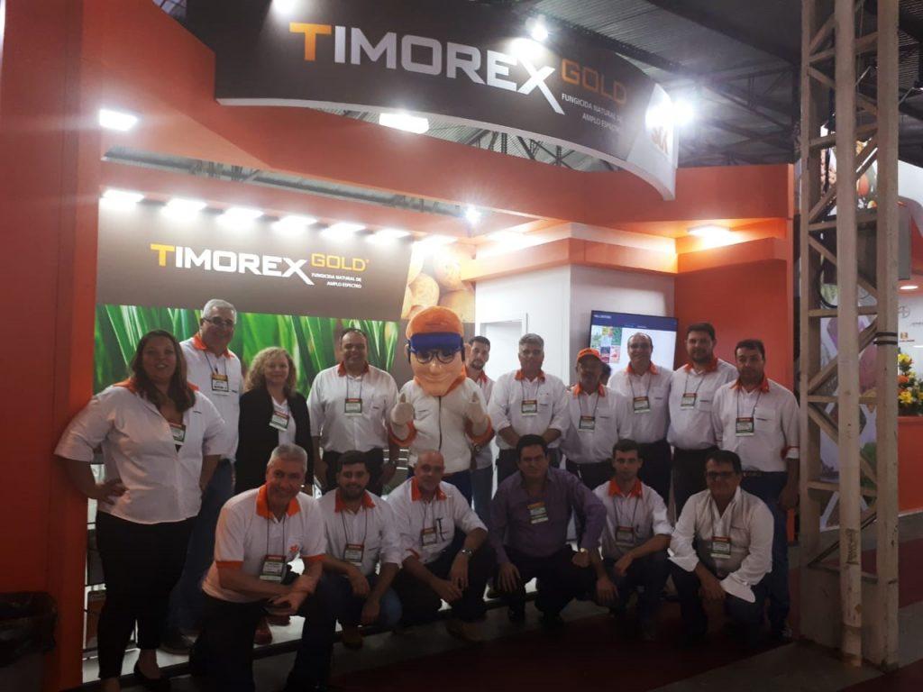 STK Bio-ag technologies presenta el biofungicida botánico TIMOREX GOLD® con el nuevo distribuidor de BASF en Hortitec en Brasil